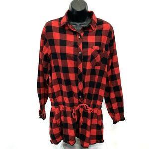 Xhilaration Sleepwear Long Sleeve Shorts Romper M